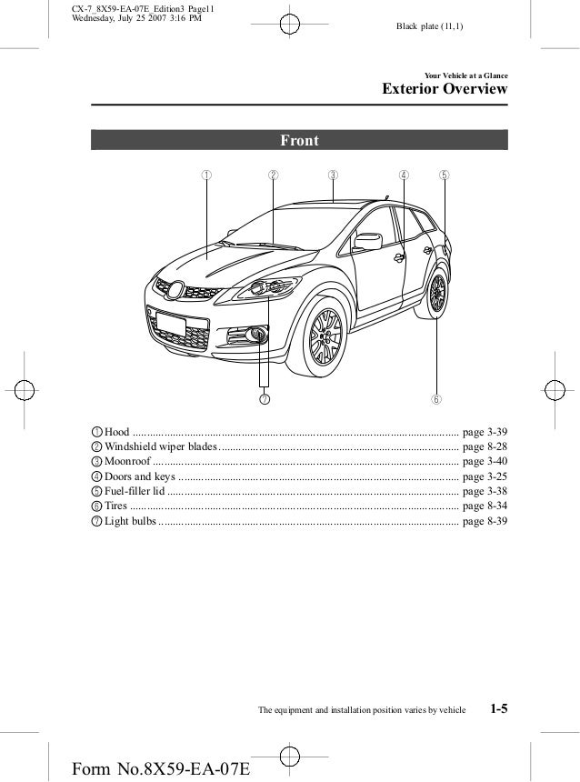 mazda cx 7 2009 air condition schematic