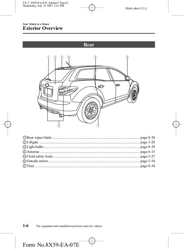 manual mazda CX 7 2008