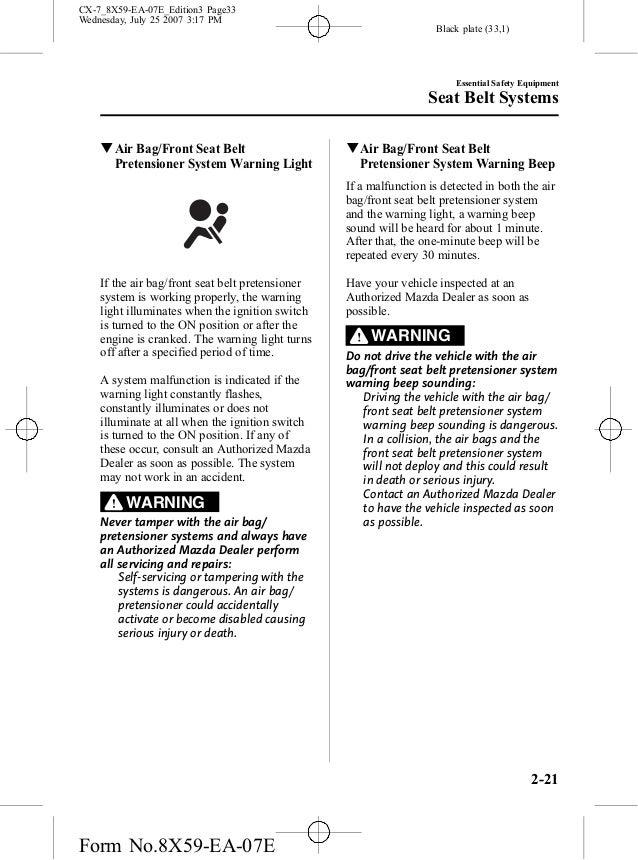 Mazda6 Manual User Guide