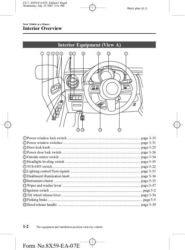 Power Window Wiring Diagram 2007 Mazda Cx 7