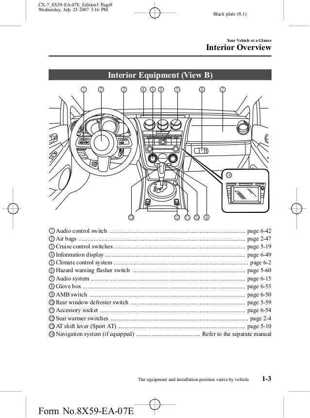 2008 cx 7 engine diagram