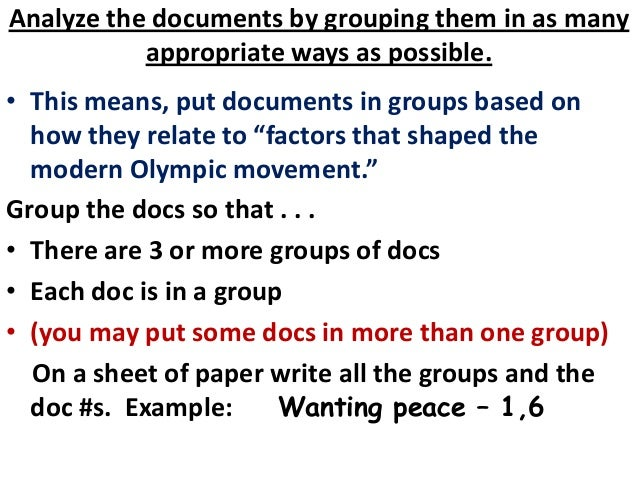 modern olympic movement dbq Modern olympic movement dbq - free download as word doc (doc / docx), pdf file (pdf), text file (txt) or read online for free.