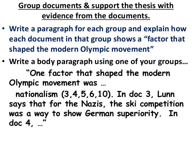analyze factors that shaped the modern olympic movement from 1892 to 2002 Explain how the document or source will contribute to an analysis of the factors that shaped the modern olympics movement from 1892 to 2002 subtotal 7 points expanded core (excellence) 0–2 points expands beyond basic core of 1–7 points a student must earn 7 points in the basic core area before earning points.