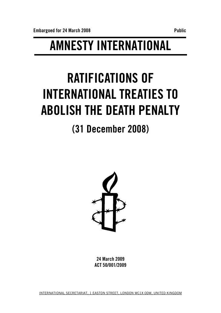 Embargoed for 24 March 2008                                             Public          AMNESTY INTERNATIONAL         RATI...