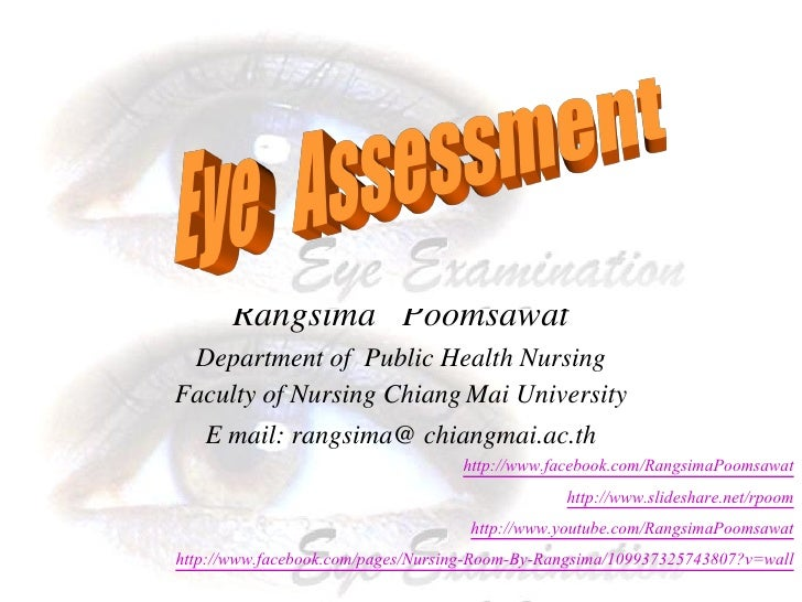 Rangsima Poomsawat            Department of Public Health Nursing           Faculty of Nursing Chiang Mai University      ...
