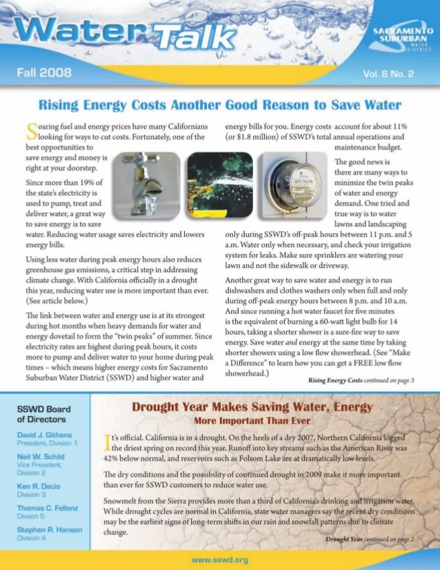 Rising Energy Costs Another Good Reason to Save Water