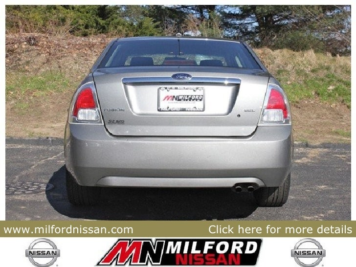 Nissan Milford Ma >> Used 2008 Ford Fusion SEL - Milford Nissan Worcester, MA