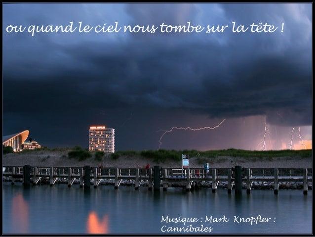 … ou quand le ciel nous tombe sur la tête ! Musique : Mark Knopfler : Cannibales