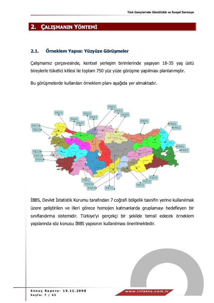 Türk Gençlerinde Gönüllülük ve Sosyal Sermaye2. ÇALIŞMANIN YÖNTEM2.1.    Örneklem Yapısı: Yüzyüze GörüşmelerÇalışmamız çer...