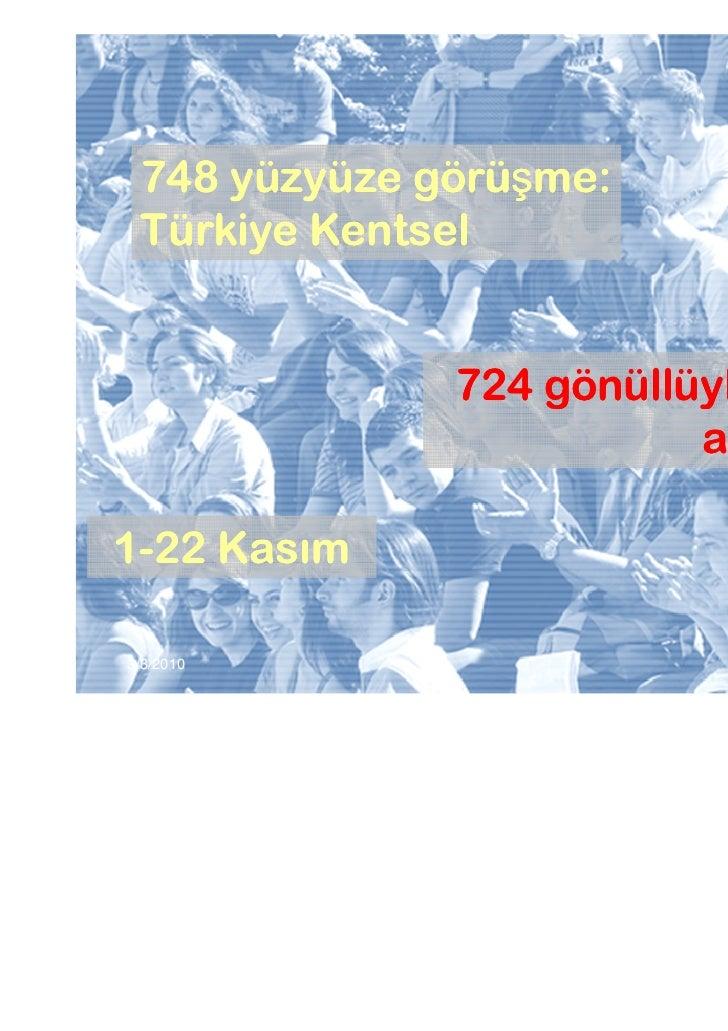 748 yüzyüze görüşme:             görüş Türkiye Kentsel              724 gönüllüyle WEB                         anketi…1-22...