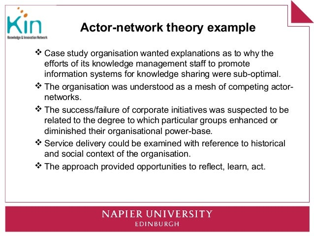 Culture As Culprit Using Actor Network Theory To Unpick