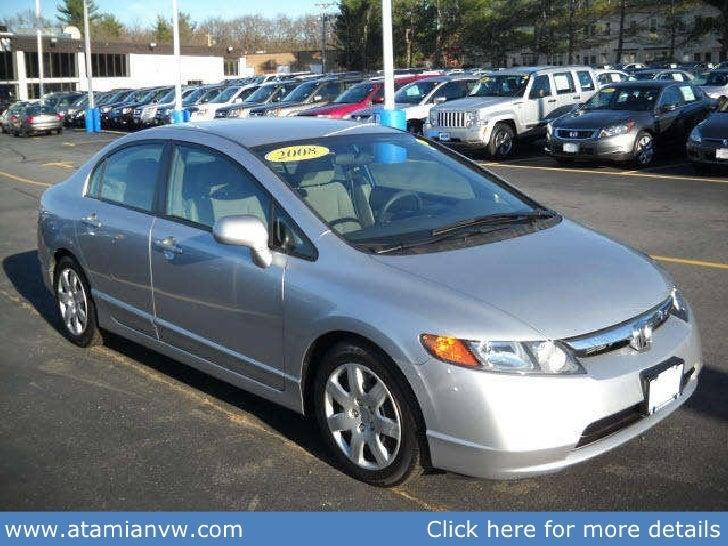 Used 2008 Honda Civic Sedan Auto Lx Boston Ma