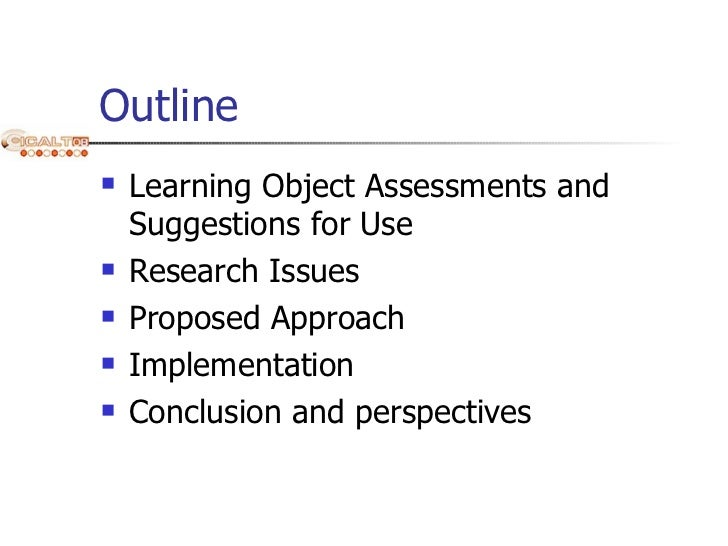 Learning Object Virtualization Allowing for Learning Object Assessments and Suggestions for Use - 2008 ICALT Slide 2