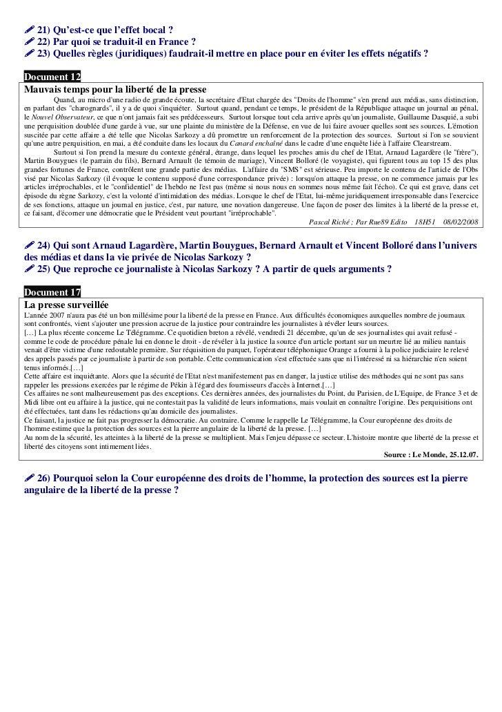21) Qu'est-ce que l'effet bocal ?    22) Par quoi se traduit-il en France ?    23) Quelles règles (juridiques) faudrait-il...