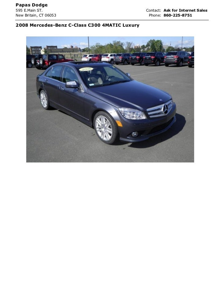 Papas Dodge595 E.Main ST.                                  Contact: Ask for Internet SalesNew Britain, CT 06053           ...