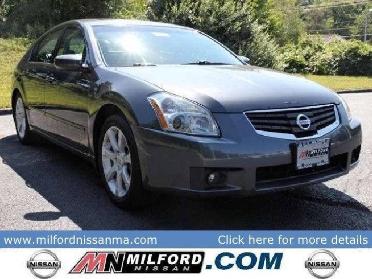 Nissan Milford Ma >> Used 2008 Nissan Maxima SE - Milford Nissan Worcester, MA