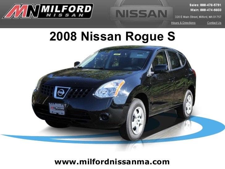 www.milfordnissanma.com 2008 Nissan Rogue S