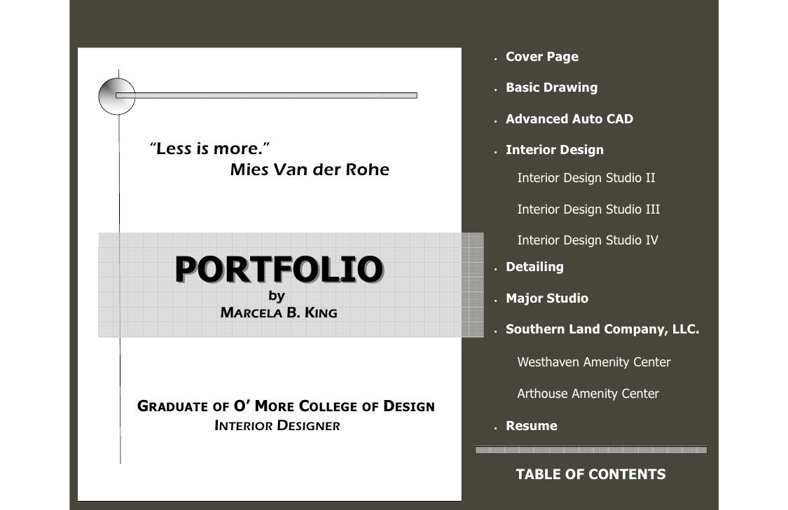 portfolio cover pages templates
