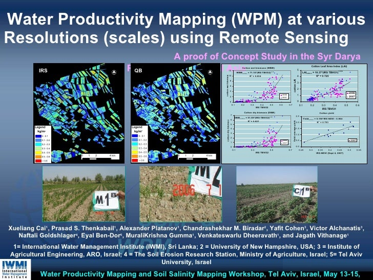 Water Productivity Mapping (WPM) at various Resolutions (scales) using Remote Sensing   A proof of Concept Study in the Sy...