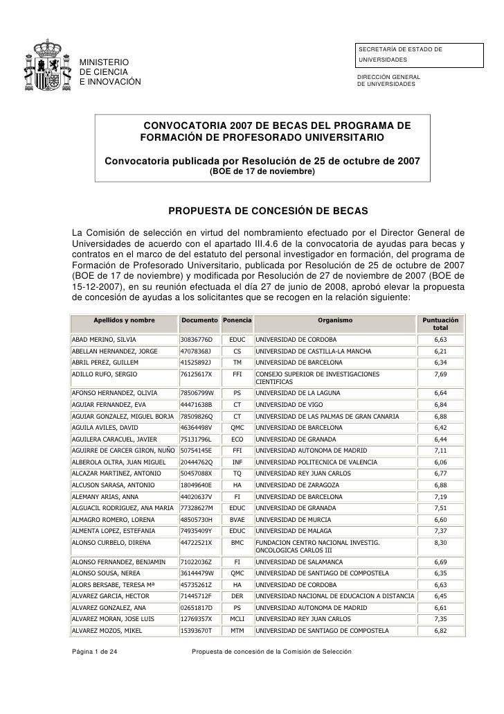 SECRETARÍA DE ESTADO DE                                                                                         UNIVERSIDA...