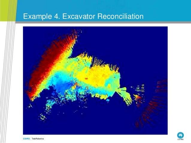 CSIRO. TeleRobotics Example 4. Excavator Reconciliation