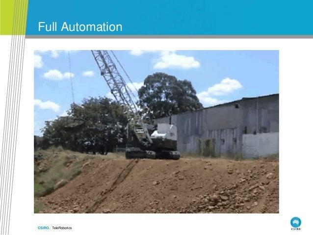 CSIRO. TeleRobotics Full Automation