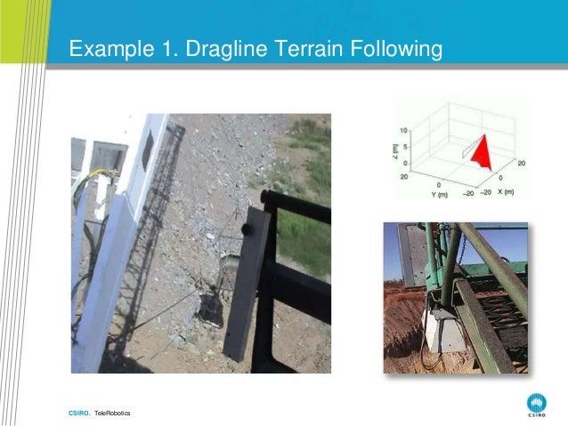 CSIRO. TeleRobotics Example 1. Dragline Terrain Following