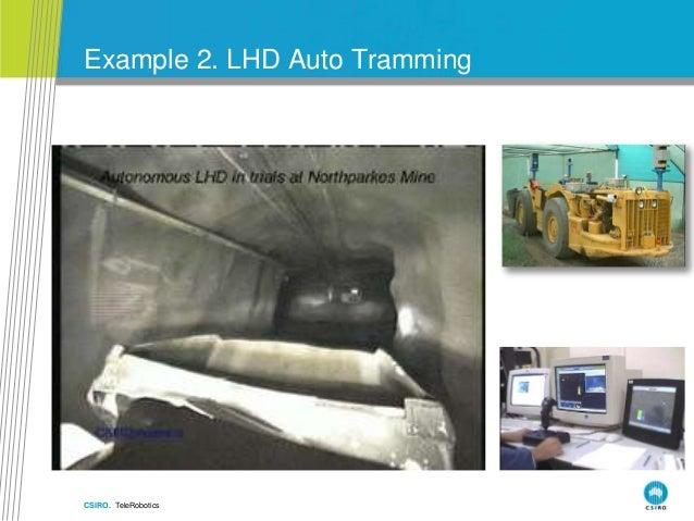 CSIRO. TeleRobotics Example 2. LHD Auto Tramming