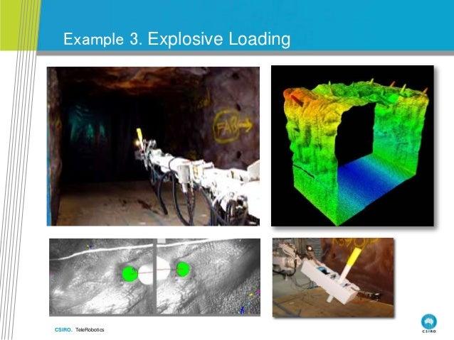 CSIRO. TeleRobotics Example 3. Explosive Loading