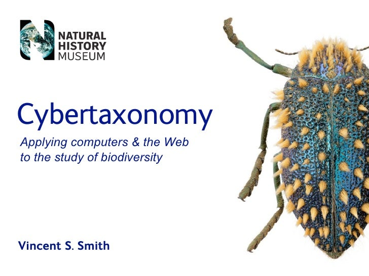 Cybertaxonomy Applying computers  the Web to the study of biodiversity     Vincent S. Smith