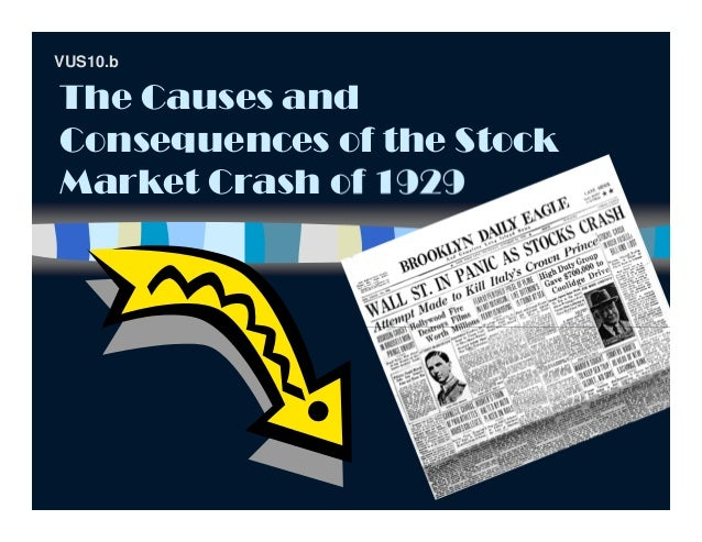 The Causes andConsequences of the StockMarket Crash of 1929VUS10.b