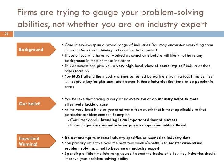 problem solving case studies manufacturing