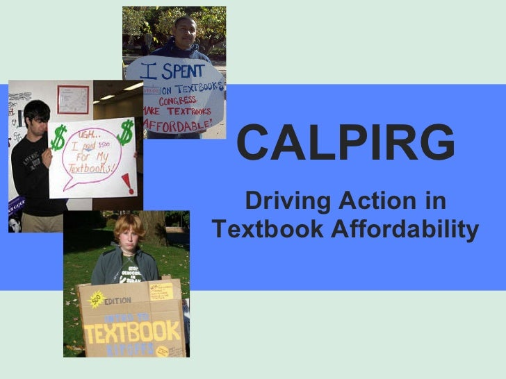 CALPIRG Driving Action in Textbook Affordability