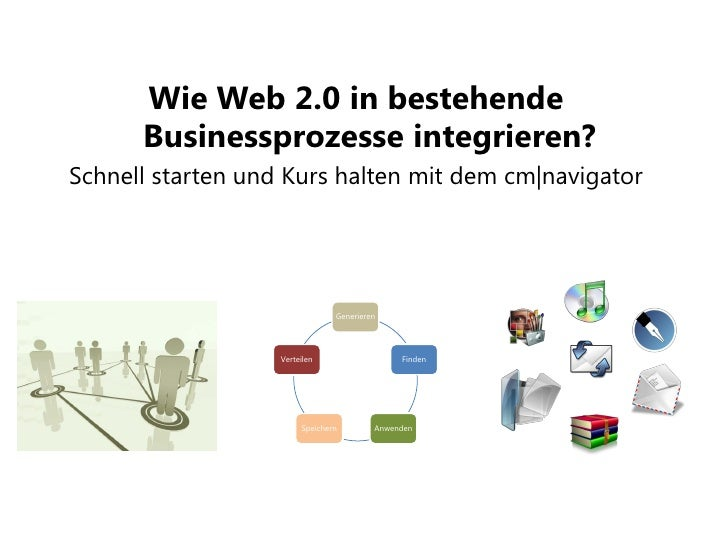 Wie Web 2.0 in bestehende       Businessprozesse integrieren? Schnell starten und Kurs halten mit dem cm|navigator        ...