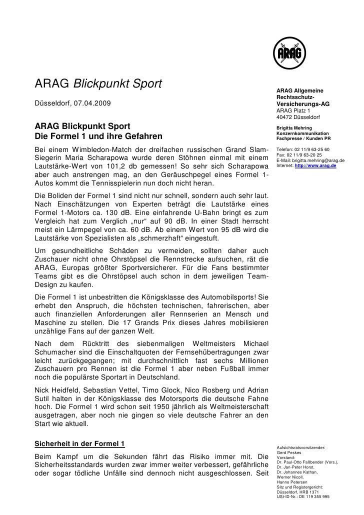 |||ARAG Blickpunkt Sport                                                      ARAG Allgemeine                             ...