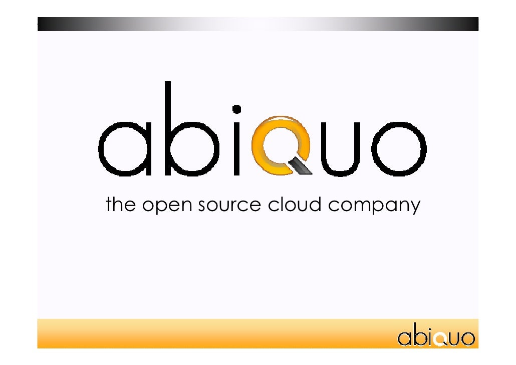 the open source cloud company