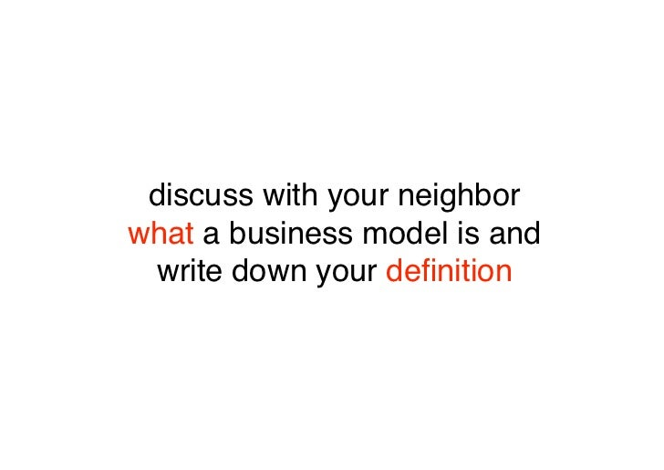 which elements did you mention when you defined a business model?                                ?