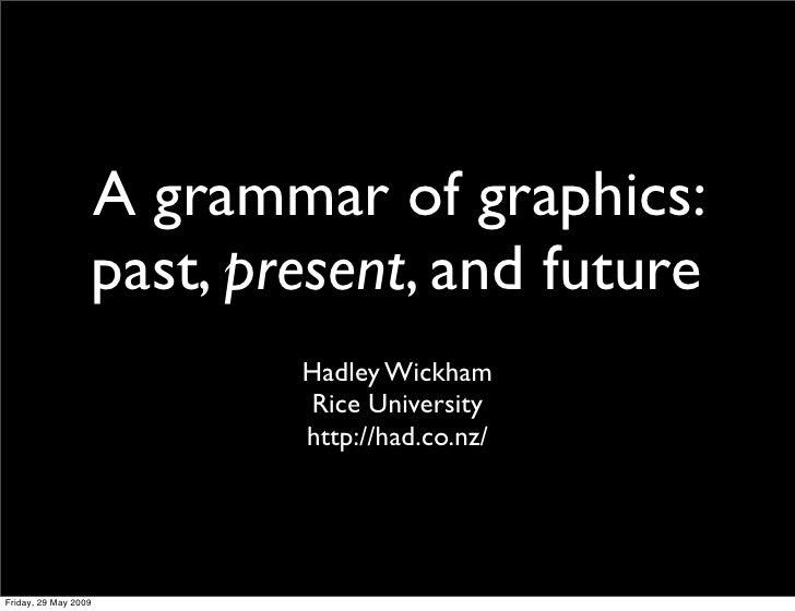 A grammar of graphics:                   past, present, and future                           Hadley Wickham               ...