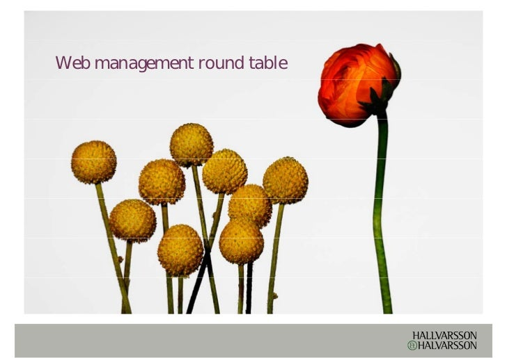 Web management round table