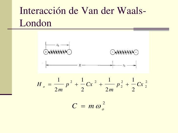 Interacción de Van der Waals-London<br />