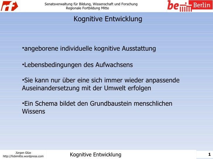 Senatsverwaltung für Bildung, Wissenschaft und Forschung                                               Regionale Fortbildu...