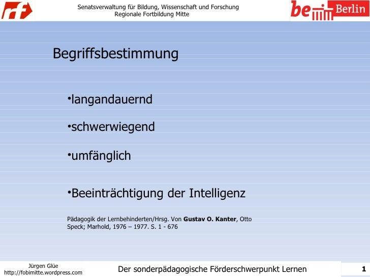 Senatsverwaltung für Bildung, Wissenschaft und Forschung                                          Regionale Fortbildung Mi...