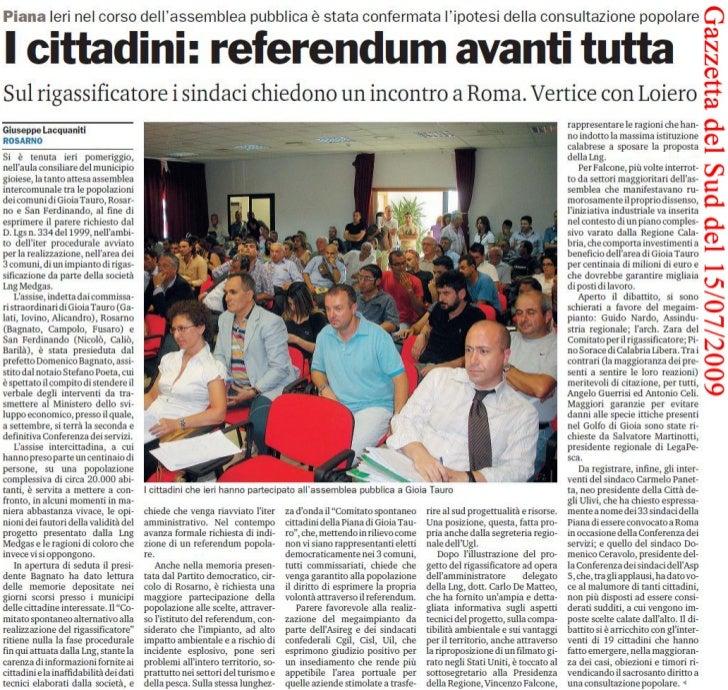 Gazzetta del Sud del 15/07/2009