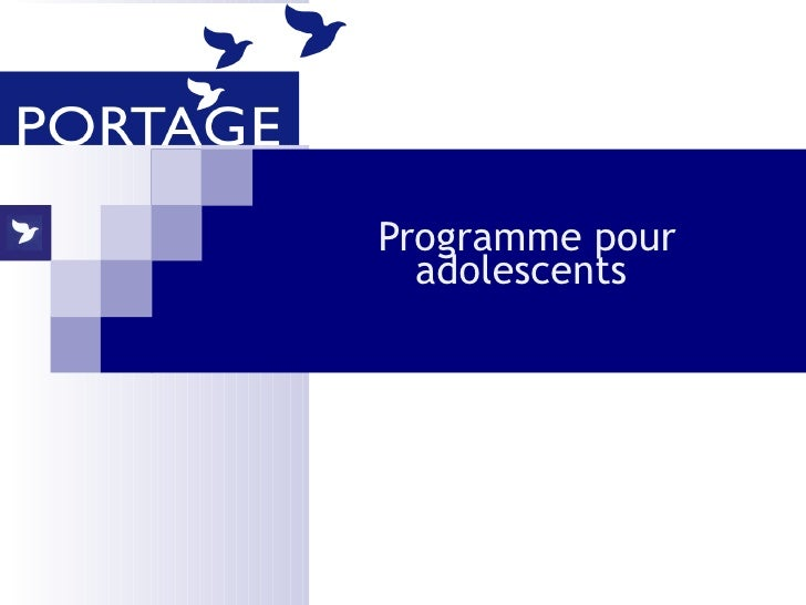 Programme pour adolescents