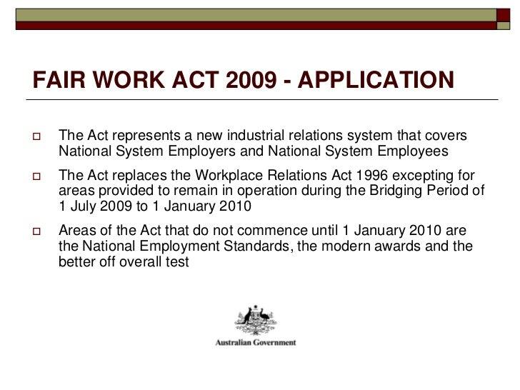 the fair work act 2009