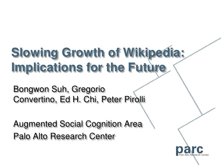 Slowing Growth of Wikipedia:Implications for the Future<br />Bongwon Suh, Gregorio Convertino, Ed H. Chi, Peter Pirolli<br...