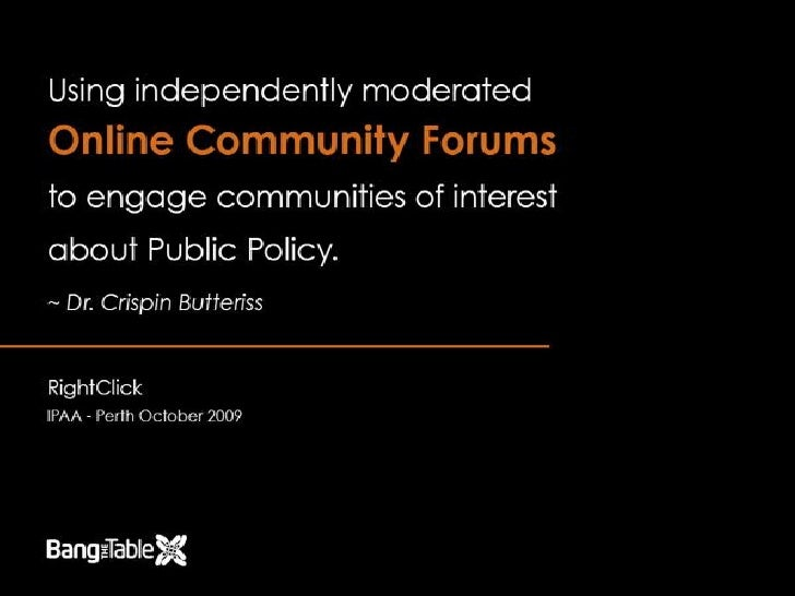 Using Forums To Engage Online