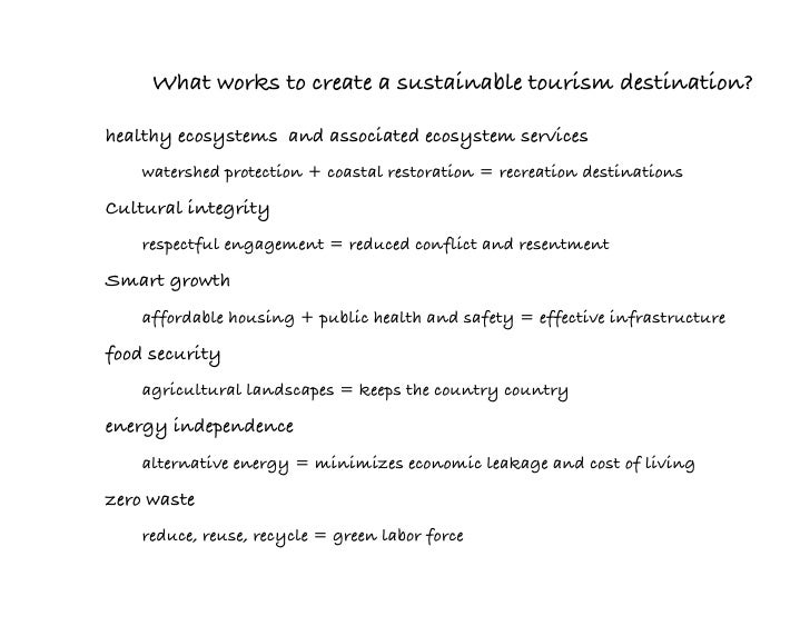 sustainable tourism essay