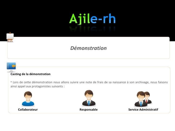 Demo Ajile-RH la solution de gestion des notes de frais et demandes de congés Slide 3