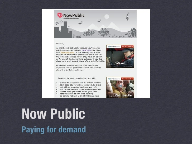 Now Public Paying for demand